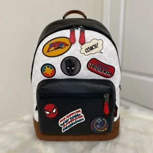 Coach Marvel West Backpack with Patches